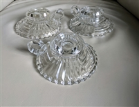 Ahc34-Clear glass candleholders by Anchor Hocking