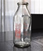 Duraglas milk bottle with advertising One Pint