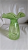 Vintage green bubble glass vase