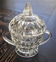 Jeanette Sugar bowl with lid Windsor clear