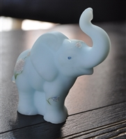 Fenton Satin blue elephant figurine