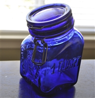 Grannys Products cobalt blue Italian glass jar