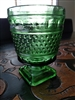 NAPCO USA green glass goblet vase