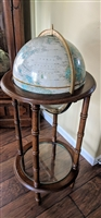 Crams Imperial 12 inch floor World Globe 1970