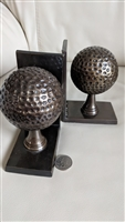 Metal golf balls bookends set of two made in India