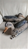 Two duck decoys Tanglefree label