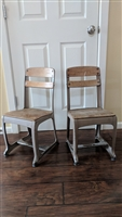 Metal and wood school kids chairs Michigan ENVOY