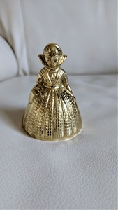 Southern belle brass woman bell decor