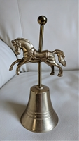 Carousel galloping stallion brass bell