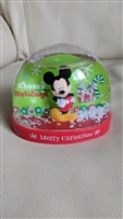 Cheers for Holidays Mickey Mouse snow globe Disney