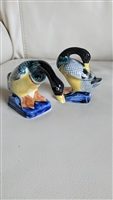 Japanese porcelain ducks or gees decorative items