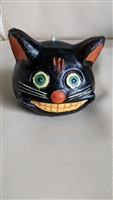 Black cat candle any day or Halloween decor
