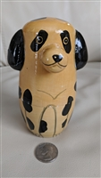 Nesting doll style wooden Dog trinket storage box