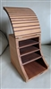 Wooden storage box in geometrical design hand made