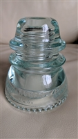 Hemingray 42 aqua glass insulator paperweight