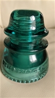 Green glass Hemingray 42 insulator for decor