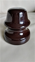 Brown ceramic insulator industrial decor