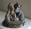 Cast Iron vintage doorstop cats and bears