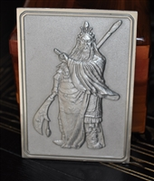 Guan Gong pewter plaque by Royal Selangor