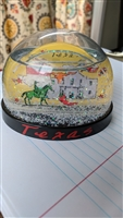 Texas subway snow globe vintage colorful decor