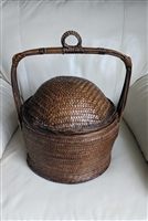 Antique Chinese Asian wedding basket with lid