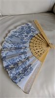 Asian handmade hand fan in floral design