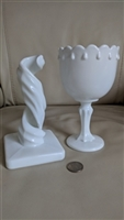 Westmoreland and Indiana milk glass decorations