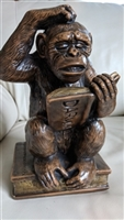 Darwin Chimp Monkey Progressive Art statue 1967