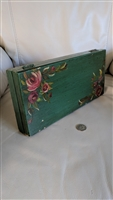 Folk Art handcrafted wooden box floral decor