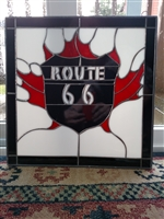ROUTE 66 acrylic glass mosaic design hanging décor