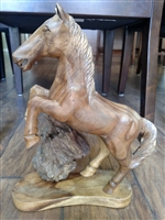 Driftwood Stallion carving vintage Folk Art