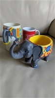Ringling Bros And Barnum circus vtg plastic mugs