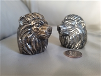 Nate Berkus metal lion head salt and pepper shaker