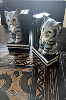 Porcelain Cats bookends Japan
