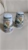 Thrifco porcelain Oklahoma theme set of shakers