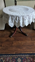 Large crochet table cloth in beautiful pattern