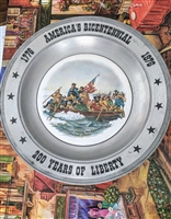 America's Bicentennial pewter plate 1976