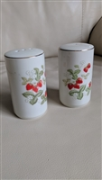 Japanese porcelain shakers with Rasberries decor