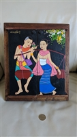 Wooden picture frame wall hanging from India