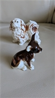 Japanese Porcelain miniature Pekingese and Pug