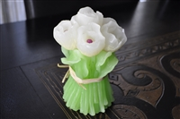 Vintage Tulips bouquet wax candle