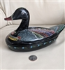 Lacquerware Duck storage box Folk Art decoration