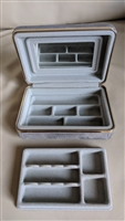 Grey plush portable travel storage case
