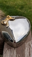 SANKYO vintage heart with bow trinket music box