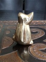 Leonard Silver mgt co solid brass dog paperweight