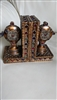 Bookends in Moroccan style textured design