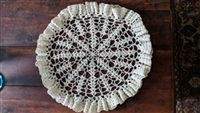 Large hand crochet doily for table decor