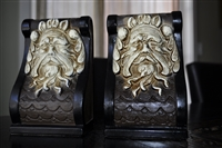 Vintage LEGO Japan Zeus bookends