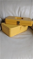 Wilson Wilhold hard plastic yellow storage boxes