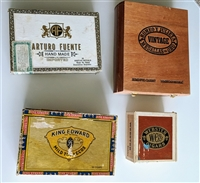 Fuente Webster and King Edward wooden cigar boxes
